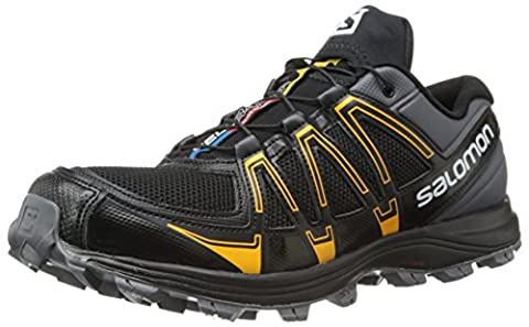 Salomon Fellraiser, Chaussures de Trail homme, Multicolore (Dark Cloud/Black/Yellow Gold), 43 1/3 EU