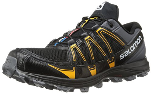 SalomonFellraiser - Scarpe Running Uomo, (Black (Dark Cloud/Black/Yellow Gold)), 41.3