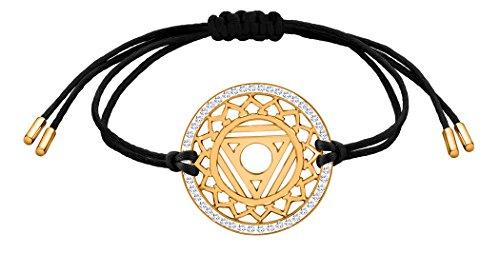 Nenalina Damen Armband mit Hals – Vishuddha Chakra Anhänger in 925 Sterling Silber vergoldet mit Swarovski Steinen besetzt 863358-501