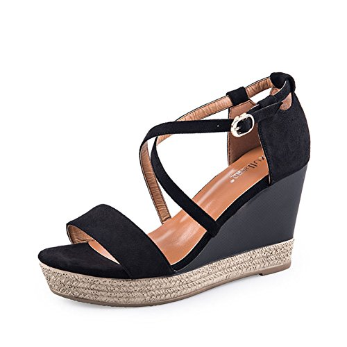 Pattini di cachemire di estate/zeppa/ladies tacco alto sandali-A Lunghezza piede=22.8CM(9Inch)