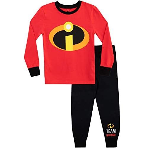 Disney Pijamas de Manga Larga para niños The Incredibles Ajuste Ceñido 7