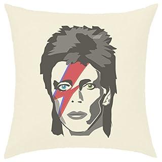 Kissenhülle, 40x 40cm bedruckt, 100% Baumwolle–David Bowie Major Tom