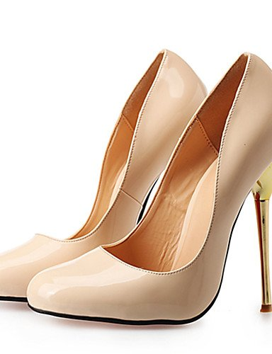 WSS 2016 Chaussures Femme-Mariage / Habillé / Soirée & Evénement-Noir / Rouge / Nu-Talon Aiguille-Talons / Bout Arrondi-Talons-Polyuréthane nude-us12 / eu44 / uk10 / cn46