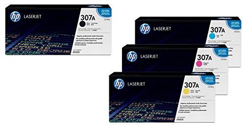 HP Original 307A Toner 4er Set schwarz, cyan, magenta, gelb (CE740A, CE741A, CE742A, CE743A) (Hp Cp5225 Toner)