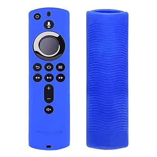 Silikon-Schutzhülle für Fernbedienung, fällt nicht leicht herunter, leicht, rutschfest, stoßfest, guter Griff für Fire TV, blau