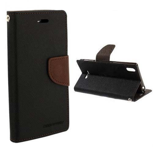 SDO Luxury Mercury Diary Wallet Style Flip Cover Case for Coolpad Note 3 Lite (Brown)