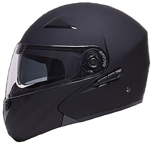 Klapphelm Integralhelm Helm Motorradhelm RALLOX 109 schwarz/matt mit Sonnenblende (S, M, L, XL) Größe L - 3