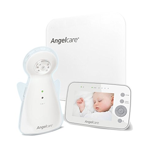 Angelcare AC1300 Digital Video, Movement and Sound Baby Monitor – White 41yDY1yfJ1L
