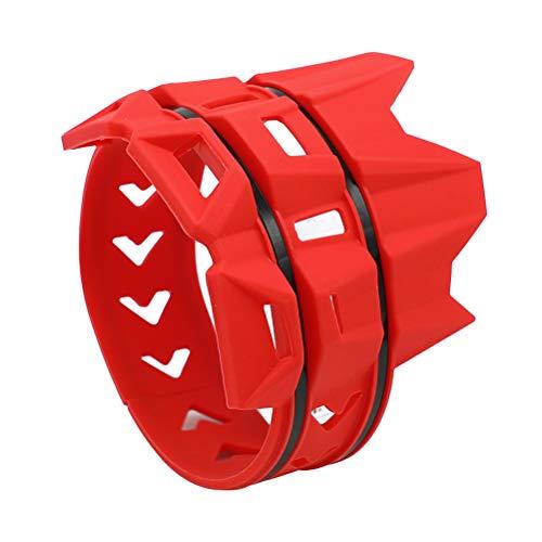 Vosarea Universeller Auspuffschutzring für Off-Road-Motorräder (rot)
