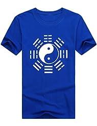 icnbuys Tai Chi T-shirt pour homme Huit trigrams Gris