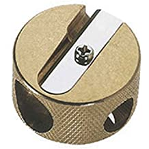 MOBIUS & RUPPERT SOLID BRASS PENCIL SHARPENER - Circular Double by Mobius & Ruppert
