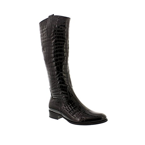Gabor Brook Croc Quilted Long Boot Black Croc