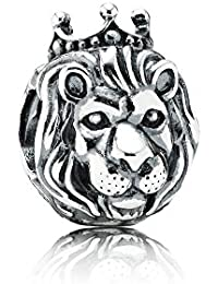 Pandora King of the Jungle Lion Charm [Silver] silver