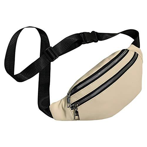 Dasongff Brusttasche Sling Tasche Schultertasche Damen Crossbody Messenger Bag Umhängetasche Sporttasche Reise Daypack PU Hüfttasche Mode -
