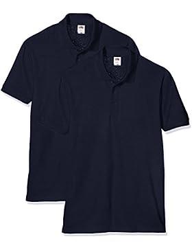Fruit of the Loom 65/35 Pique Polo, T-Shirt Uomo, Confezione da 2