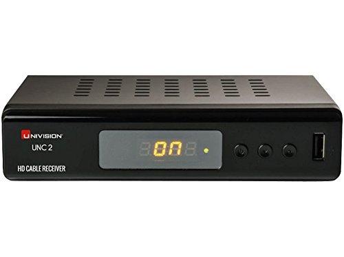 Univision UNC2 Receptor de televisión por Cable (Full-HD, HDMI, Euroconector, coaxial, USB, Reproductor Multimedia) Colour Negro (Importado)