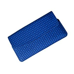 i-KitPit : PU Leather Flip Pouch Case Cover For Lenovo S850 (BLUE)