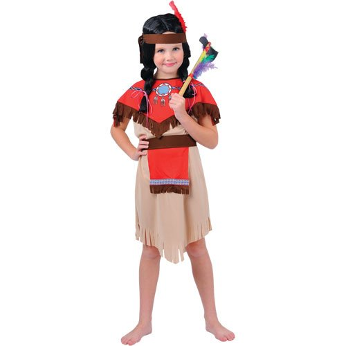 Pocahontas Native Indian Girls Fancy Dress Costume L