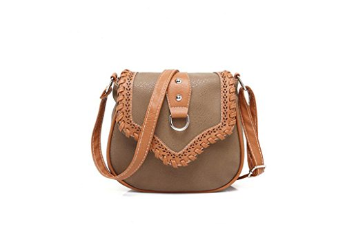 Borsa Minimalista spalla, borse da donna, eolici di piccola profumata borse casual, pacchetto diagonale della moda Light Khaki