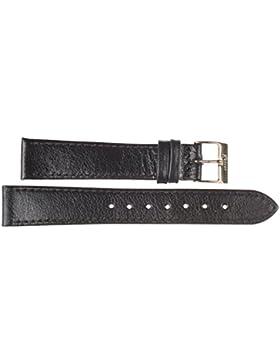 16 mm KAISER Uhren Lederband Uhrenarmband Lederuhrband Schwarz 16 mm Schliesse: gelb