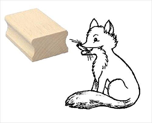 Stempel niedlicher FUCHS - Motivstempel aus Buchenholz