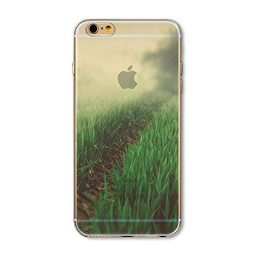 Coque iPhone 7 Plus Housse étui-Case Transparent Liquid Crystal en TPU Silicone Clair,Protection Ultra Mince Premium,Coque Prime pour iPhone 7 Plus-Paysage-style 5 6
