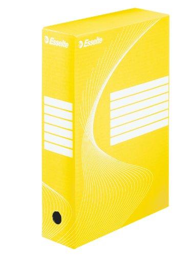 Esselte lotto di 25scatole archivio dorso 80 mm giallo