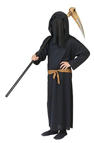 Halloweenia - Jungen Karneval/Halloween Jungen Phantom der Finsternis Kostüm-Set, 134-140, 9-10 Jahre, Schwarz (Mädchen Hexe Hut Mit Schwarzen Haaren)