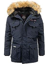 Geographical Norway Homme Parka d hiver Veste Hiver à Capuche – Doublé  Chaud Parka - 188d70a91600