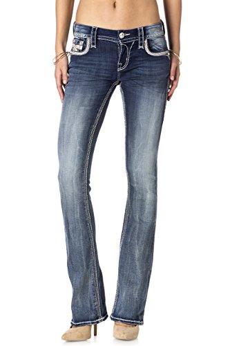 Rock Revival - Frauen Sukie B401 Bootcut Jeans Med Denim