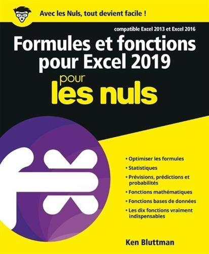 Formules et fonctions pour Excel 2019 pour les Nuls par  (Broché - May 9, 2019)