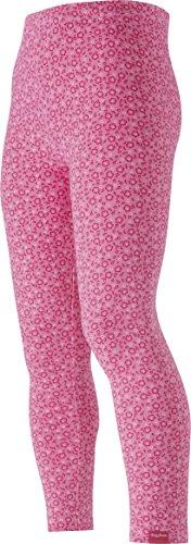 Playshoes Mädchen Legging Allover Blumen pink, Oeko-Tex Standard 100, Gr. 86, Rosa (original 900)