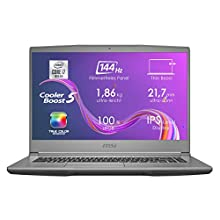 MSI Creator 15M A10SD-415 (39,6 cm/15,6 Zoll/Full-HD/100% sRGB) Laptop (Intel Core i7-10750H, 16GB RAM, 512GB PCIe SSD, Nvidia GeForce GTX 1660 Ti 6GB, Windows 10) space-grau