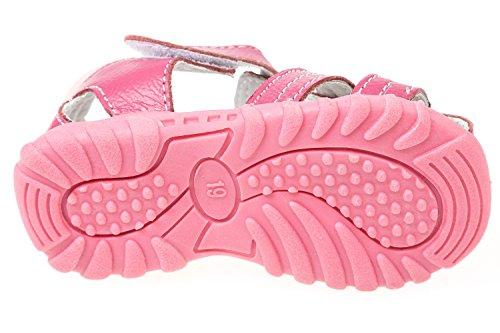 GIBRA® Sandales en cuir pour bébé et tout-petit Rose Taille 19–24 Rose - Rose