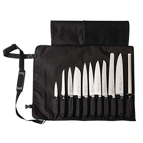 Dick Knives GD796schwarze Messer-Tasche aus Stoff zum Zusammenrollen, mit Gurt (Tasche Messer-set Nur)