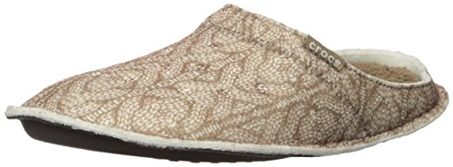 CROCS - CLASSIC CABLE KNIT SLIPPER - stucco walnut Marrone