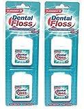 2 paquetes de 2 x 50 m Claradent Cera Dental de Cera tratada con menta sabor cuidado dental