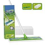 Swiffer Starter Kit XXL Scopa con 1 Manico + 8 Panni di Ricambio, per Catturare E Intrappolare La Polvere