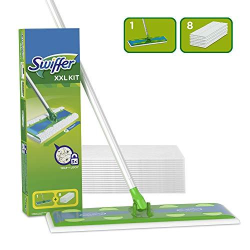 Swiffer Starter Kit XXL Bodenwischer & Komplett-Reinigungsystem, None, Gr&uumln, 8