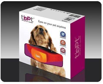Kentron TBPT Collare GPS per Monitoraggio Animali, Auto, Moto, Mappa GPS, Controllo da Smartphone, Rosso - Impermeabile Collare Per Il Controllo