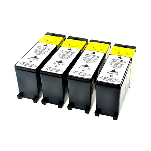 LS 4 Patronen für Lexmark 100 XL Black Schwarz je 510 Seiten, kompatibel zu 14N1068E (Lexmark Patrone Xl 100)