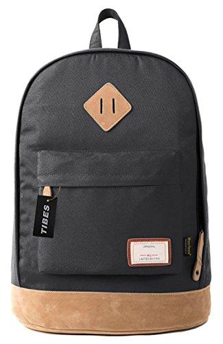 Tibes Zaino Impermeabile Zaino Ragazza Borsa Zaino Backpack Schoolbag Zaino Per Scuola Nero