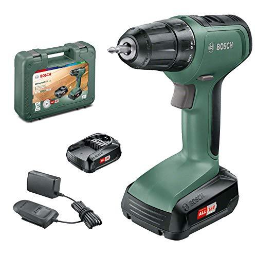 Perceuse-visseuse sans fil Bosch - UniversalDrill 18 (2 batteries 18V-1,5Ah et chargeur, livré avec deux embouts de vissage et coffret)