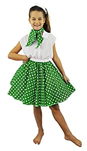 I Love Fancy Dress. ilfd7075 Childs Falda Corta Lunares 17 Pulgadas de largo/22 - Cintura 32 ""