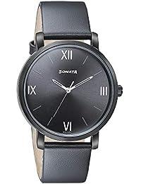 Sonata Analog Black Dial Men's Watch-7142NL01