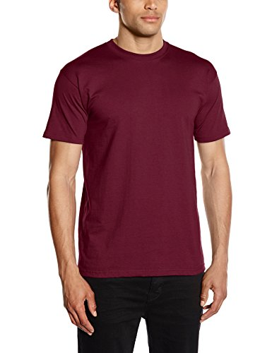 Fruit of the Loom Herren, Regular Fit, T-Shirt, Premium Tee Single, Gr. X-Large (Herstellergröße: X-Large), Rot (Burgundy) (Unisex Fit-tee)