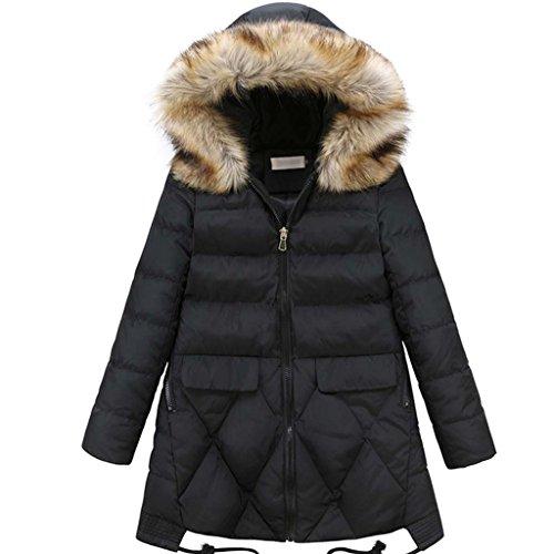 Jack Mall- Aggiungere fertilizzanti Aumentare cotone Abbigliamento donna con il cappotto piumino cotone abiti larghi cotone imbottito ( colore : Nero , dimensioni : 6XL )
