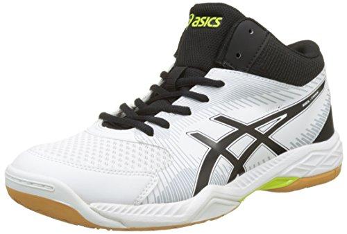 ASICS Gel-Task MT, Scarpe da Pallavolo Uomo, Bianco (White/Black/Mid Grey), 43.5 EU