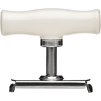 Premier Housewares 0806378 Bygone Ouvre-Bocal Acier Inoxydable + Poignée Blanc