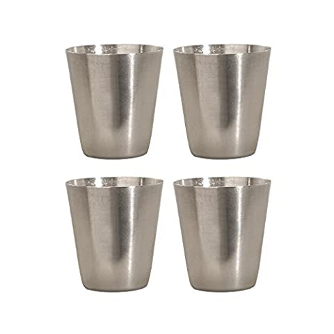 Thirsty Rhino Stainless Steel Shot Glass, 1 Ounce (Set of 4) by Thirsty Rhino
